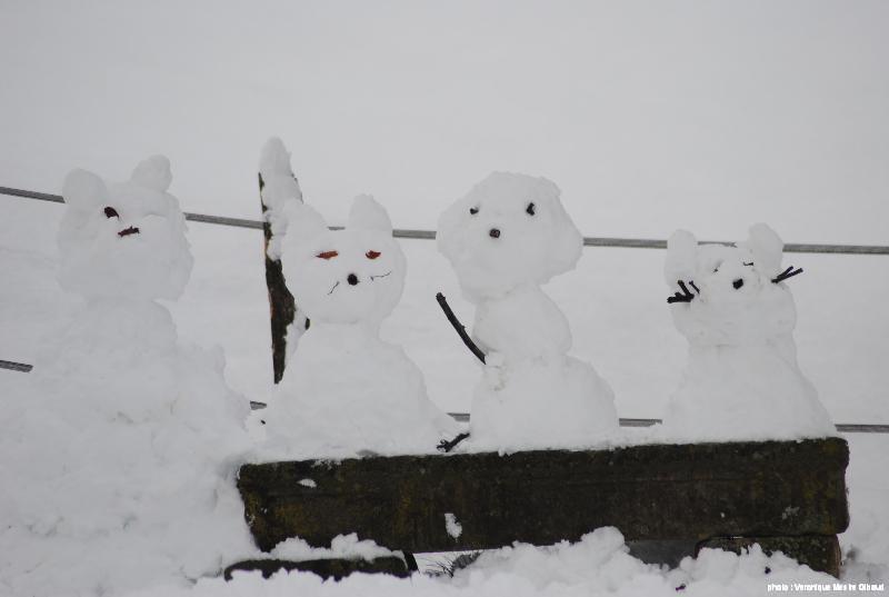 bonhommes de neige du lieu-dit Pâturage